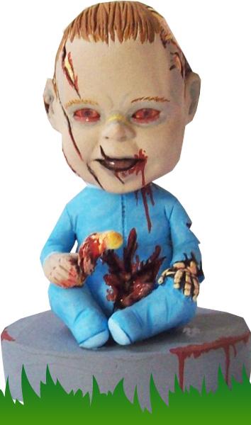 Zombie baby bobblehead