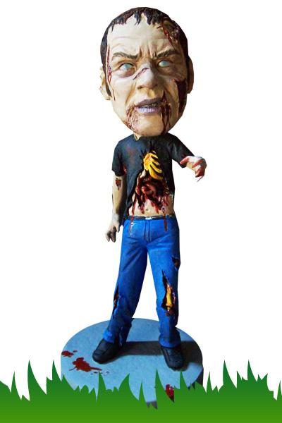 Custom zombie bobblehead