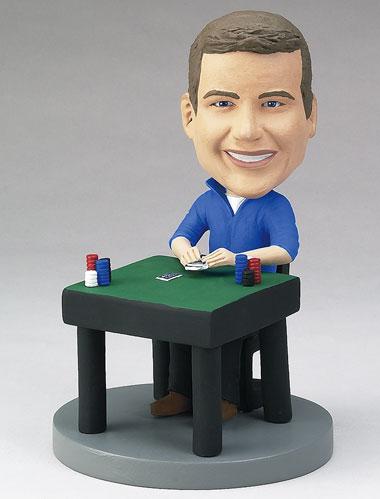 Poker Player Bobblehead