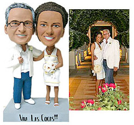 custom bobblehead dolls wedding gift